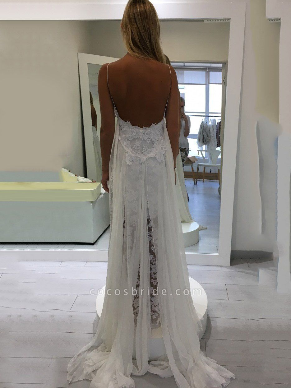 Hollie Inspiration French Lace Dresses Bohemian Wedding Dresses