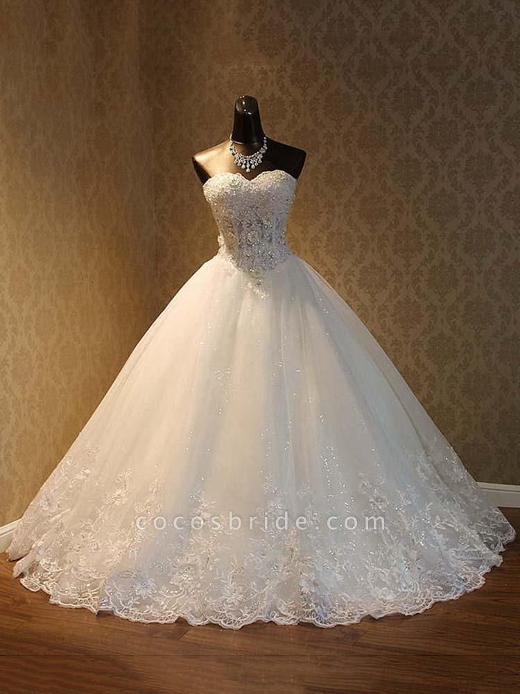 Popular Luxury Lace Ball Gowns Beaded Wedding Dresses