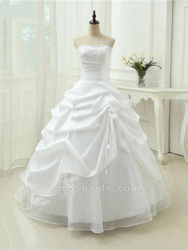 Gorgeous Sweetheart Beaded Ball Gowns Lace-Up Wedding Dresses