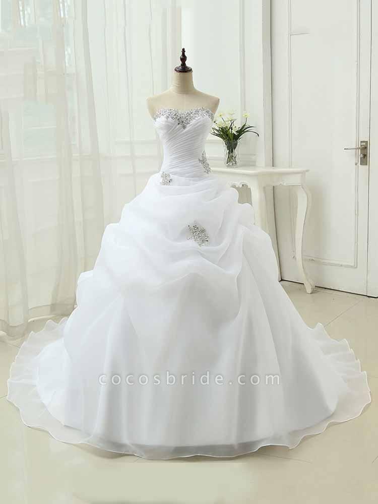 Gorgeous Sweetheart Ruffles Wedding Dresses