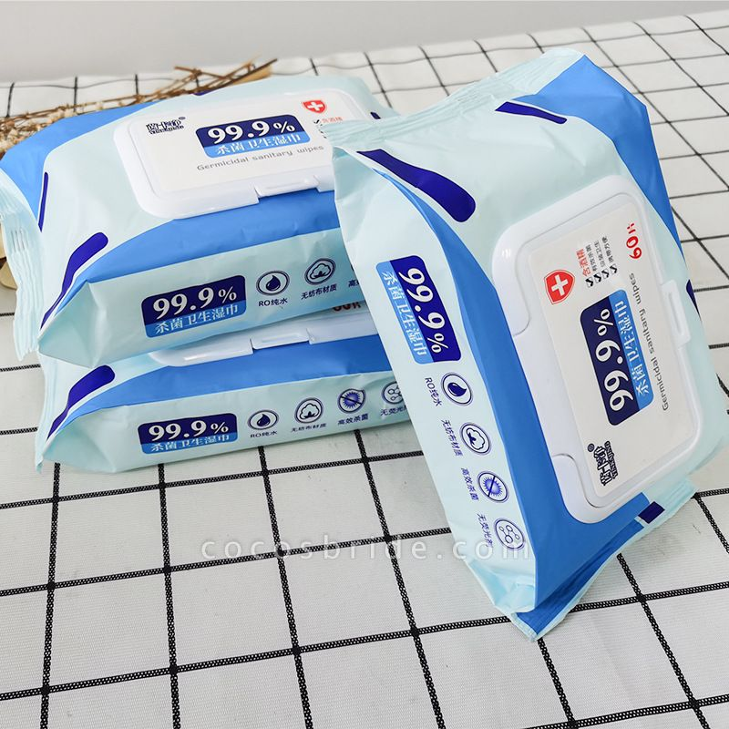 Wet Wipes Kiling 99.99% of Germ - 60 Wipes/Pack (Pack of 20)