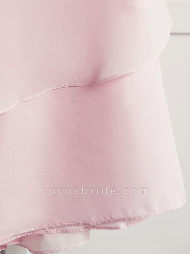 A-Line Floor Length Wedding / Party Flower Girl Dresses - Satin / Tulle Sleeveless Square Neck With Sash / Ribbon / Bow(S) / Solid