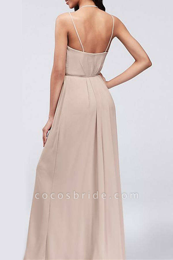 SD2004 Charming A-line Spaghetti Straps Bridesmaid Dresses With Slit