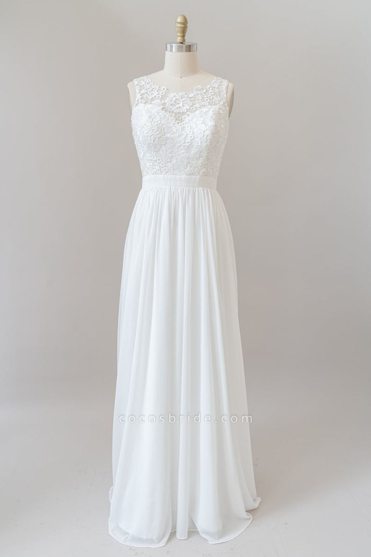 SD1960 Straps Lace A-line Boho Wedding Dress