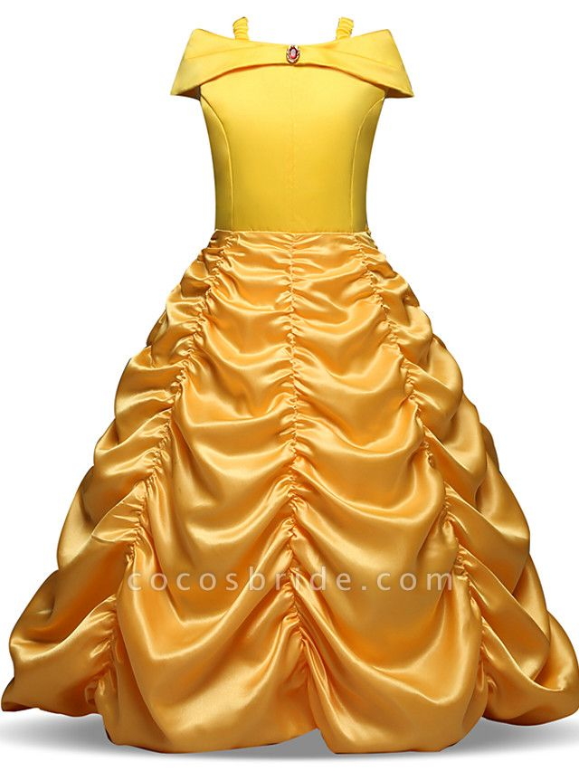 Ball Gown Floor Length Wedding / Party Flower Girl Dresses - Tulle Sleeveless Jewel Neck With Ruching