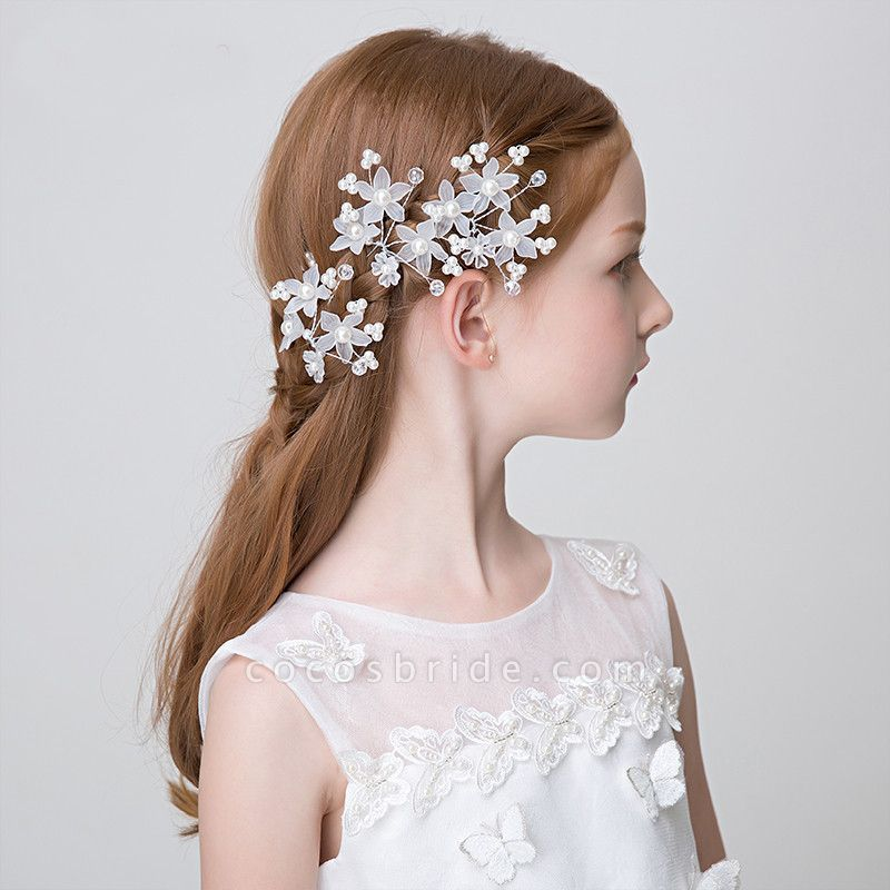Pearls Crystal Flower Headbands