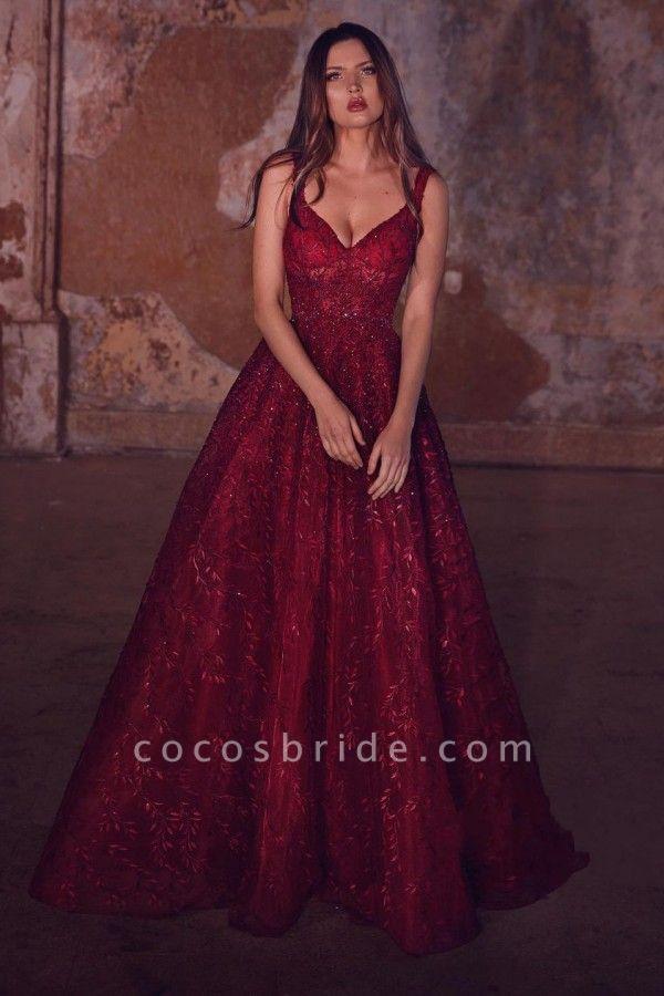 Shinny Long A-line Sweetheart Glitter Prom Dress