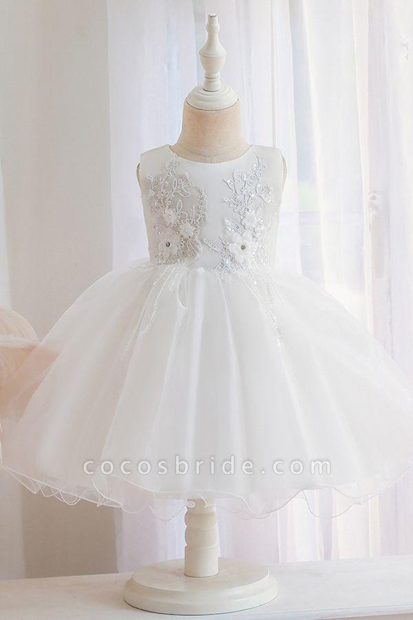 FS9966 Appliques Sleeveless Scoop Ball Gown Wedding Dress