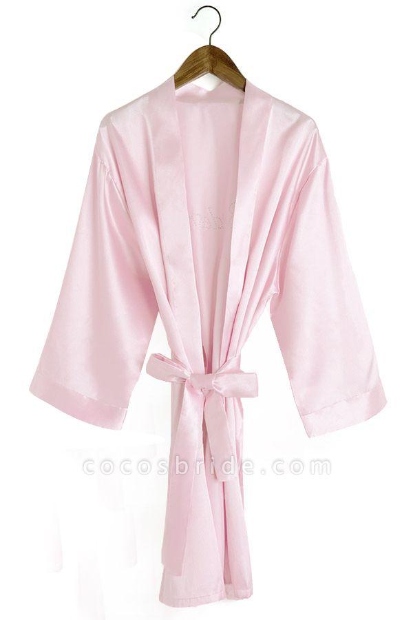 Personalized Rhinestone Bridesmaid & Bridal Robes