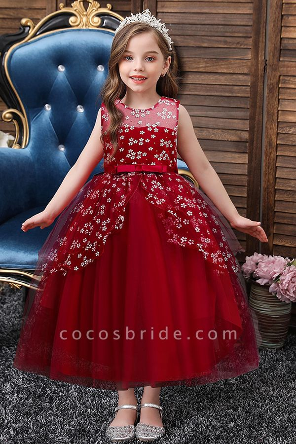 FS9981 Red Princess Belt Ball Gown Wedding Dress