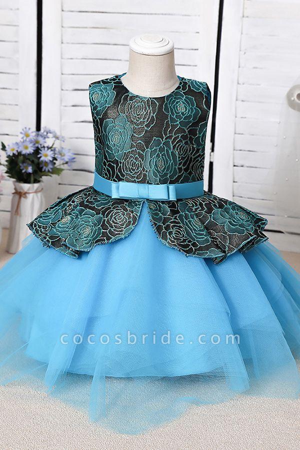 FS9964 Ball Gown Scoop Appliques Flower Girl Dress