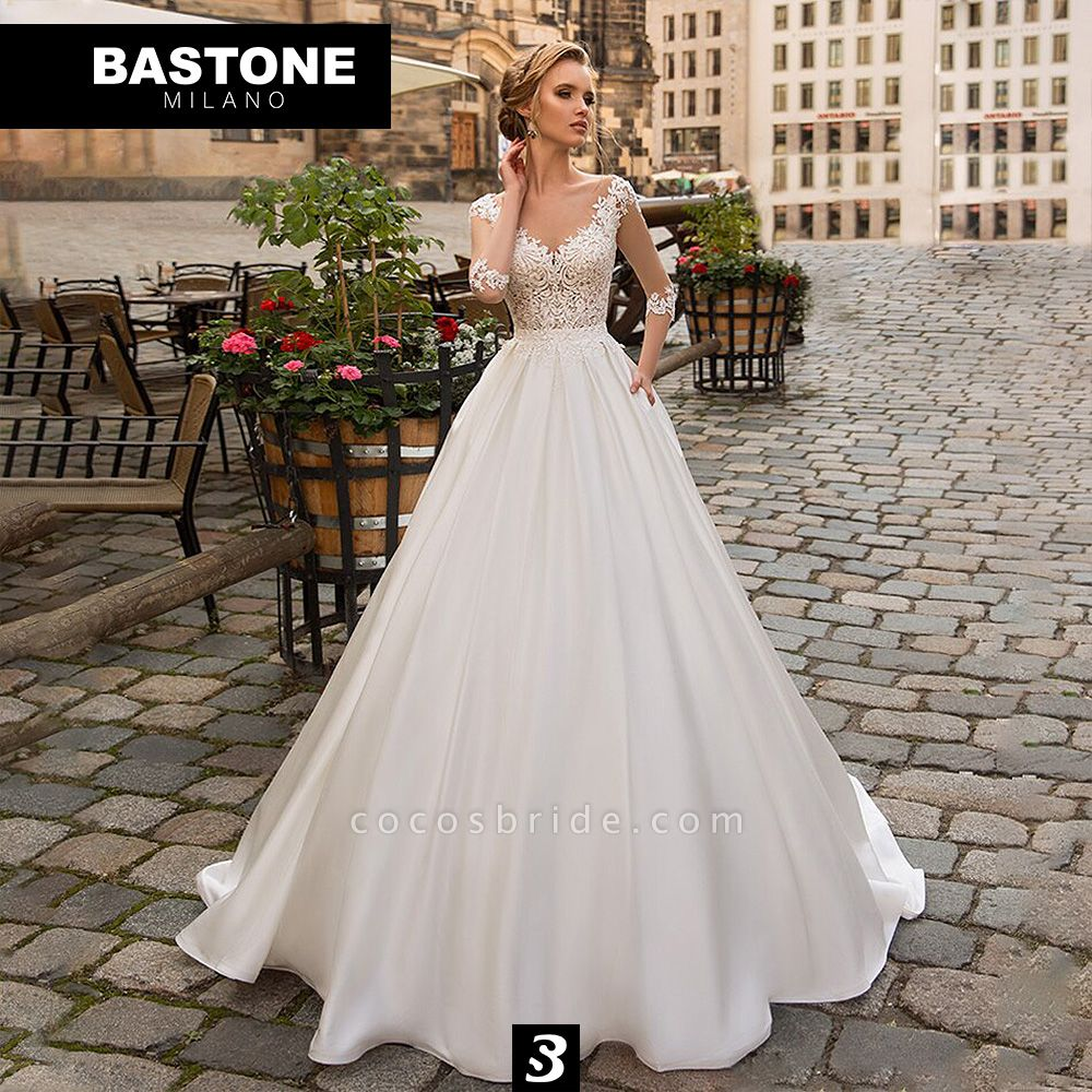 IC139L Wedding Dresses A Line Innocenza Collection