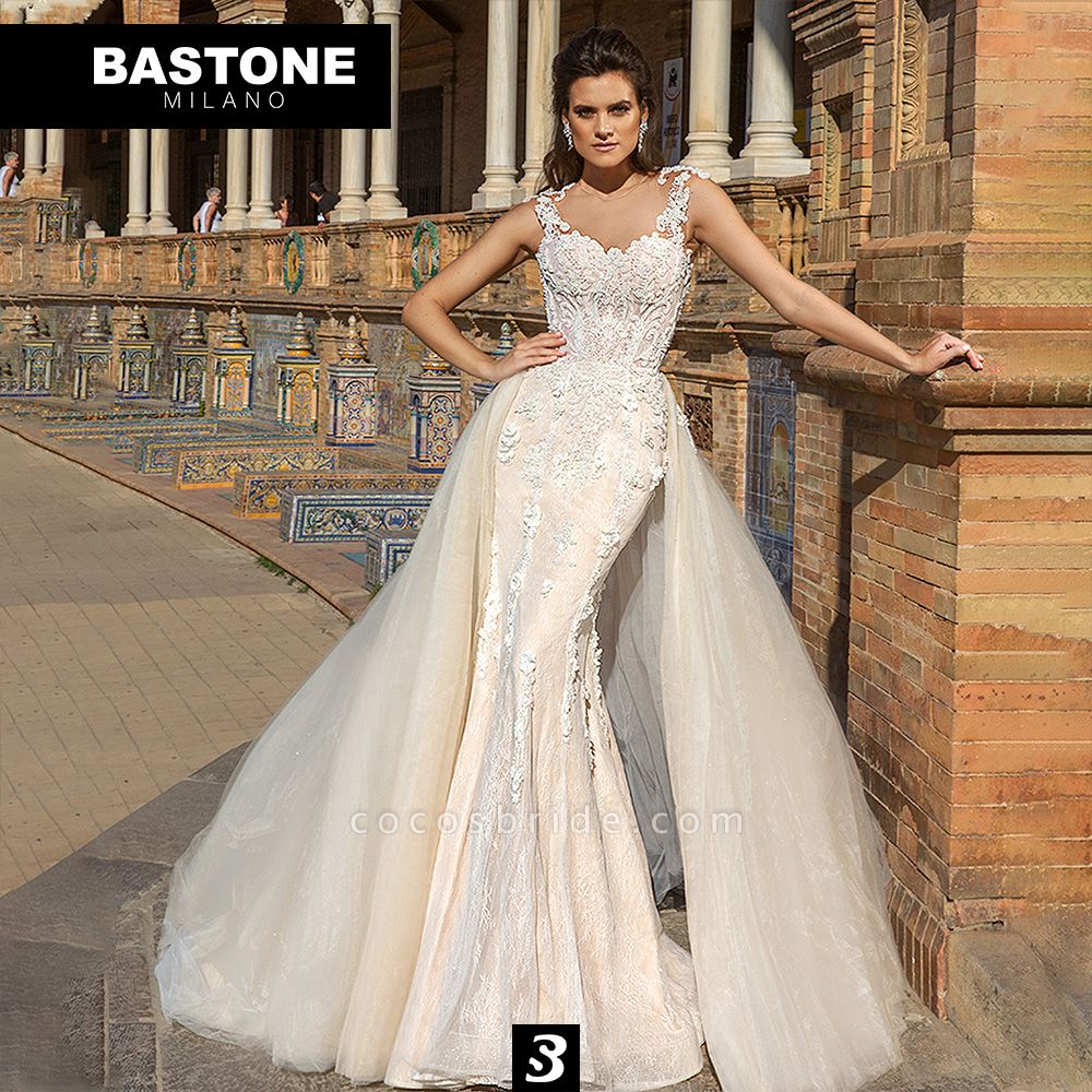 NC215L Wedding Dresses 2 in 1 Mermaid NEW 2021 Collection