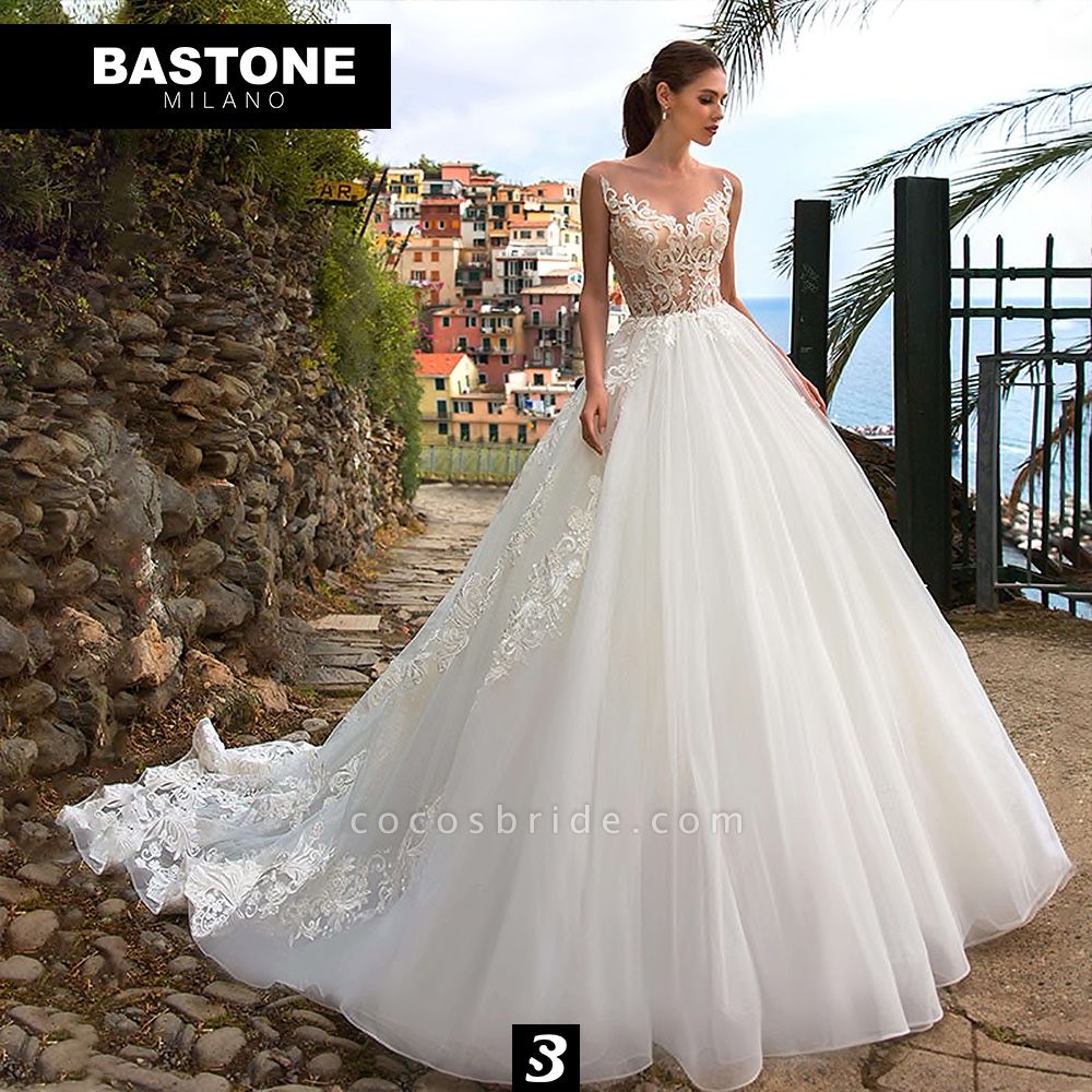 CC109L Wedding Dresses A Line Ball Gown Confidence Collection