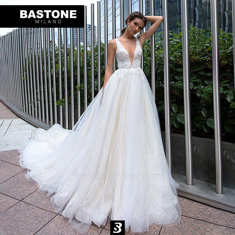 LL173L Wedding Dresses A Line Luxury Line