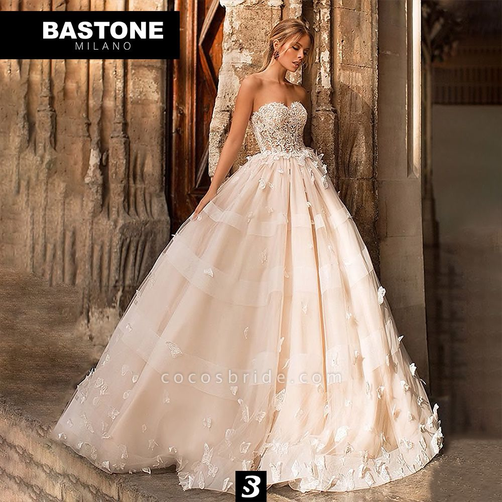 CC108L Wedding Dresses A Line Ball Gown Confidence Collection