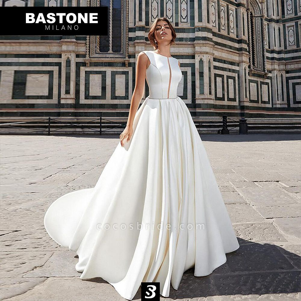 CC117L Wedding Dresses A Line Confidence Collection