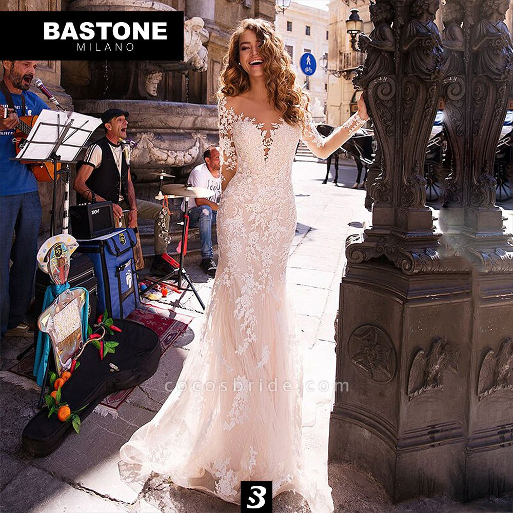 LL184L Wedding Dresses Luxury Line Mermaid