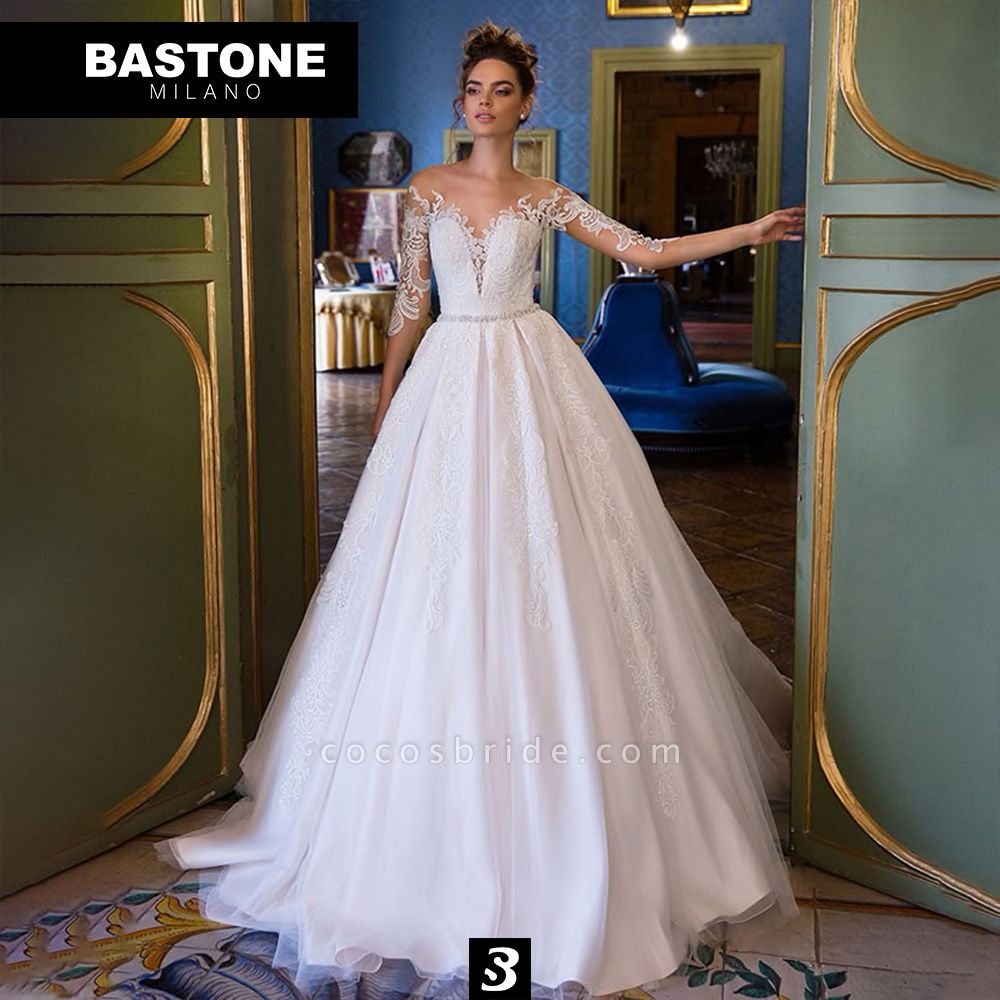 CC085L Wedding Dresses A Line Ball Gown Confidence Collection
