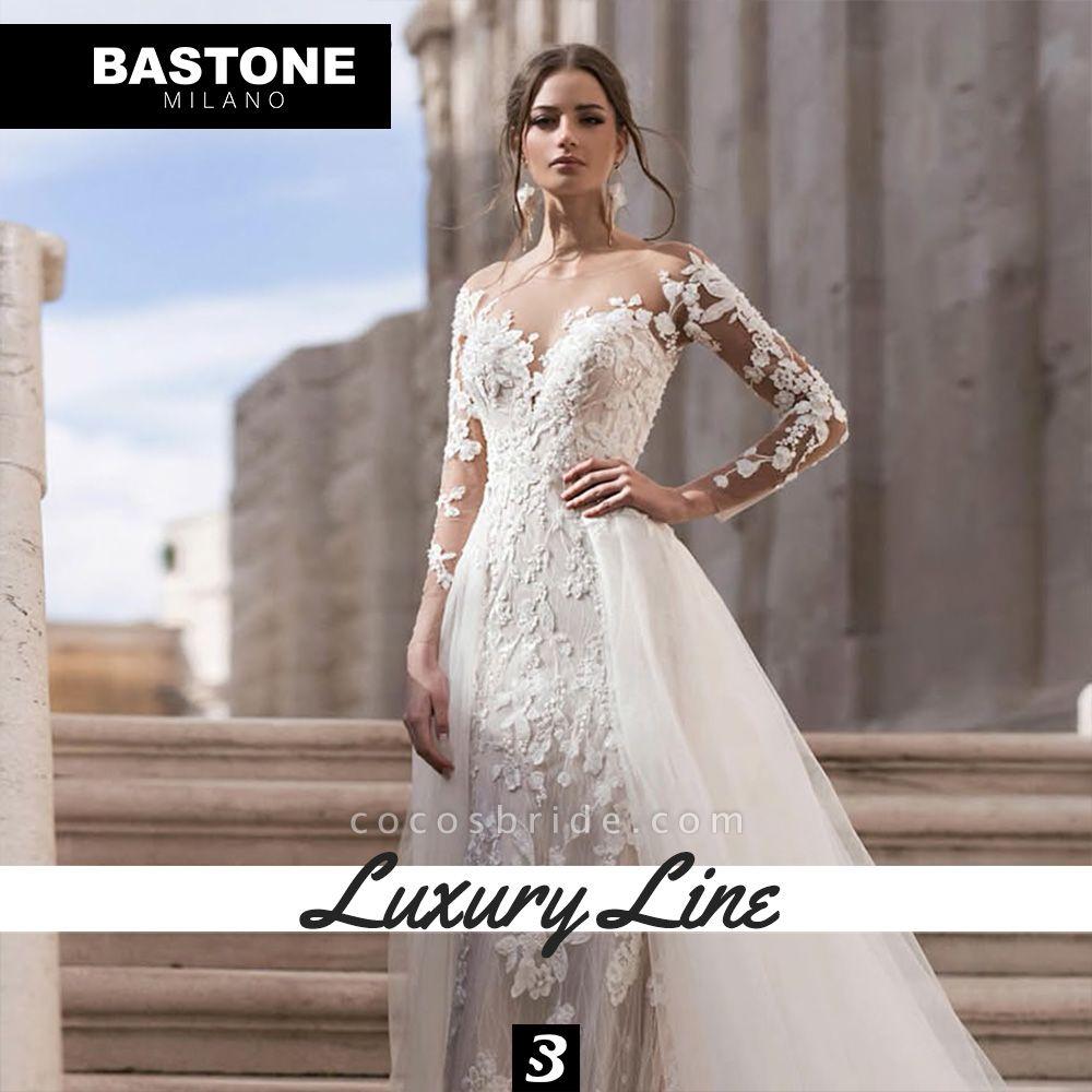 LL038L Wedding Dresses 2 in 1 Luxury Line