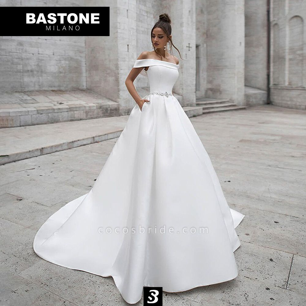 IC121L Wedding Dresses A Line Innocenza Collection