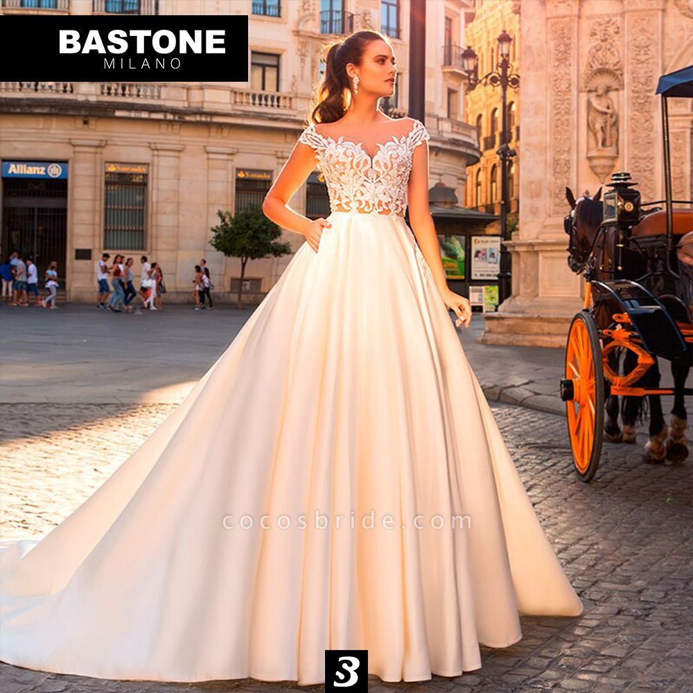 CC084L Wedding Dresses A Line Ball Gown Confidence Collection