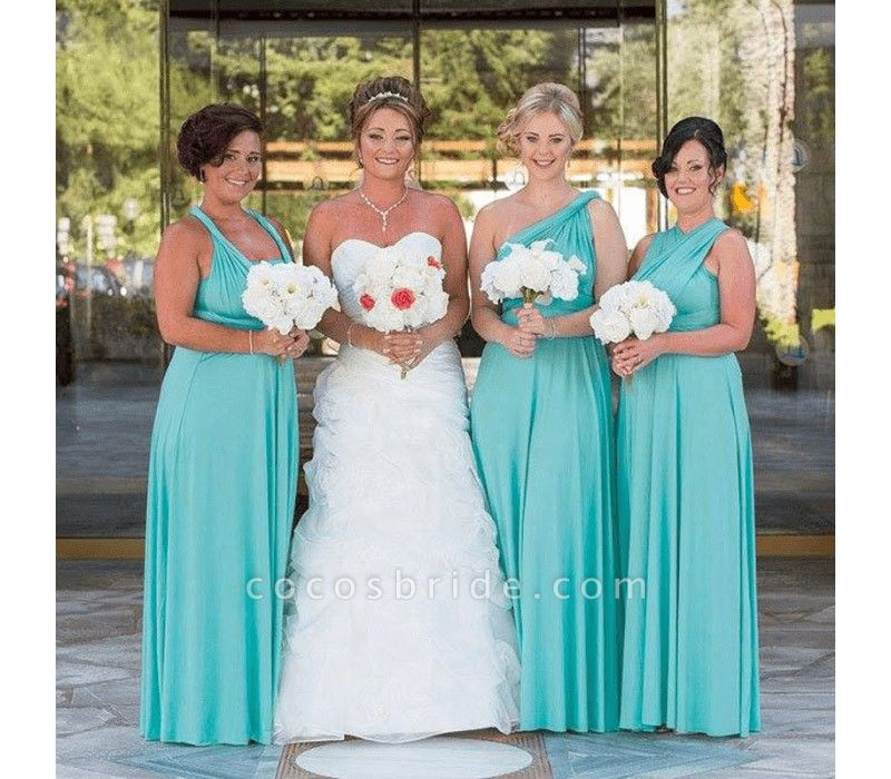 Long A-line Multiway Infinity Mint Green Bridesmaid Dress