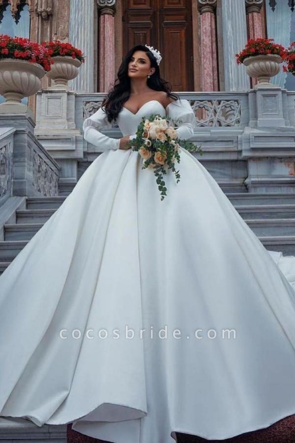 Amazing Princess Satin Sweetheart Wedding Dresses