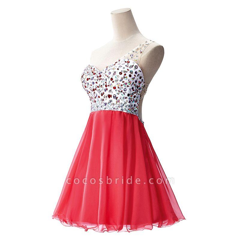 Elegant One Shoulder Chiffon A-line Evening Dress
