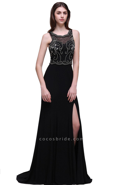 Wonderful Straps Chiffon Column Prom Dress