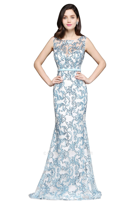 ARIADNE | Mermaid Sweep Train Lace Cheap Evening Dresses
