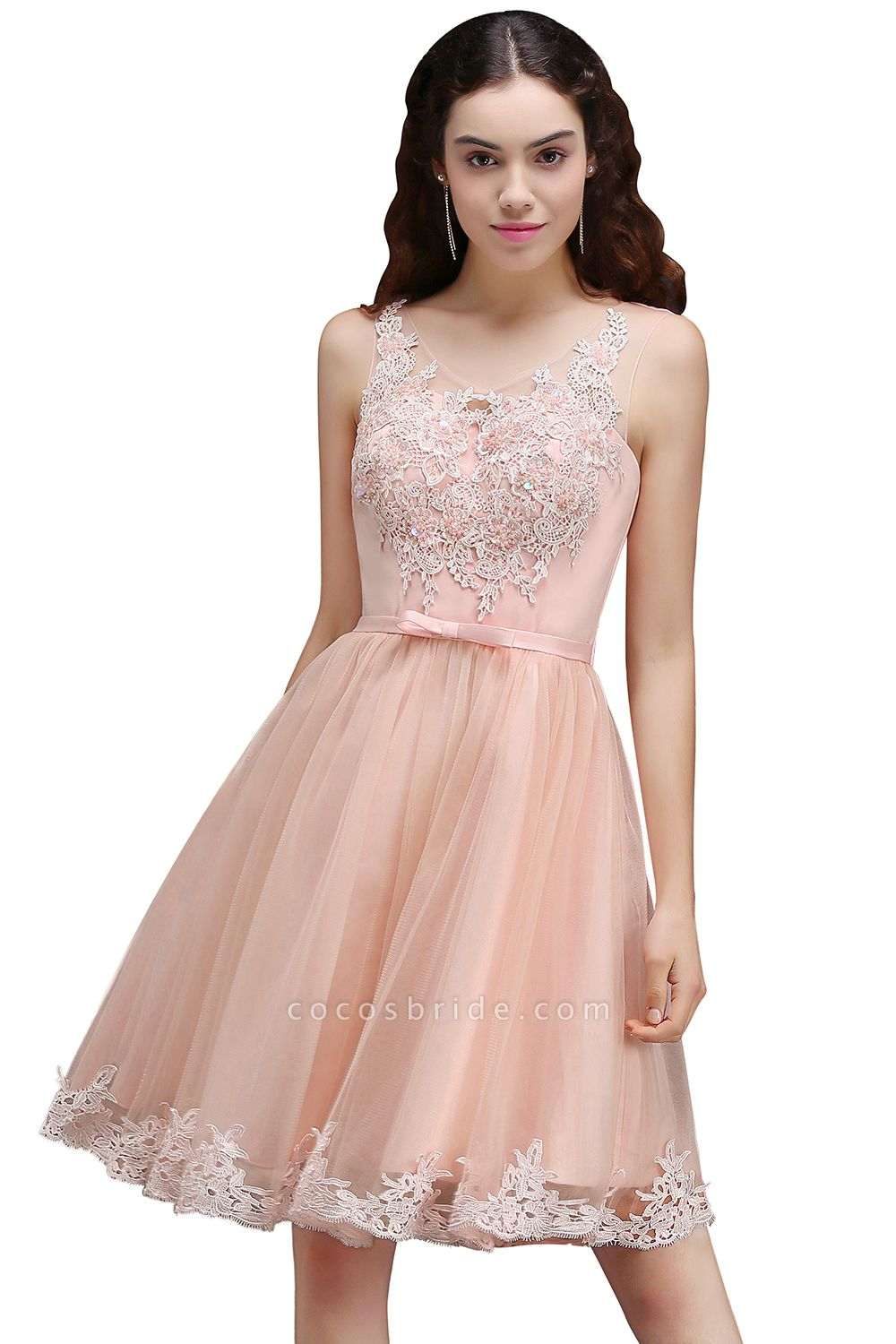 Best Straps Satin A-line Homecoming Dress
