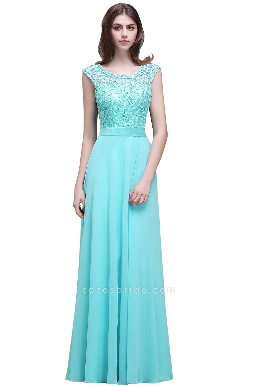 Affordable Jewel Chiffon A-line Evening Dress