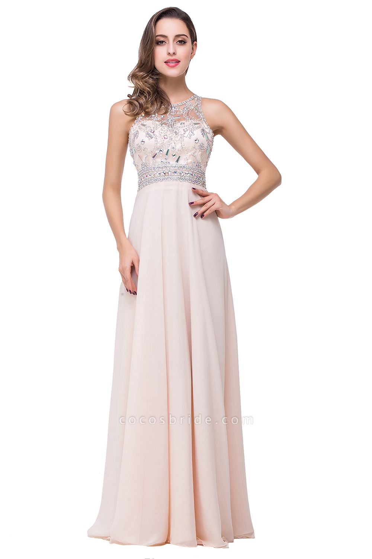 Eye-catching Jewel Chiffon A-line Evening Dress
