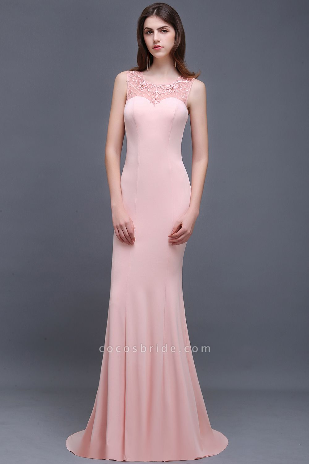 ALAIA | Mermaid Sheer Floor-Length Long Prom Dresses With Applique