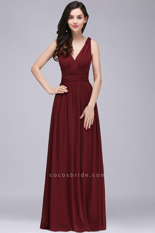 Wonderful V-neck Chiffon A-line Evening Dress