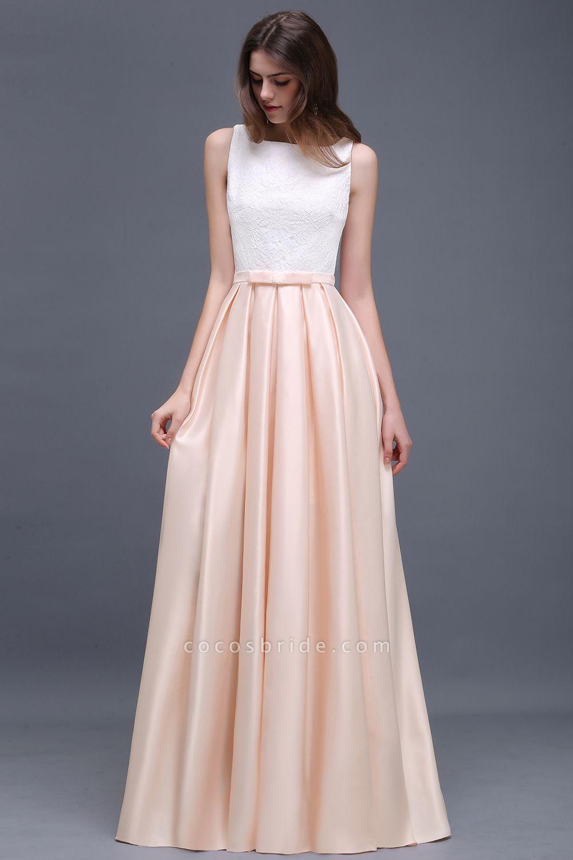 Lace A-line Floor Length Bridesmaid Dress