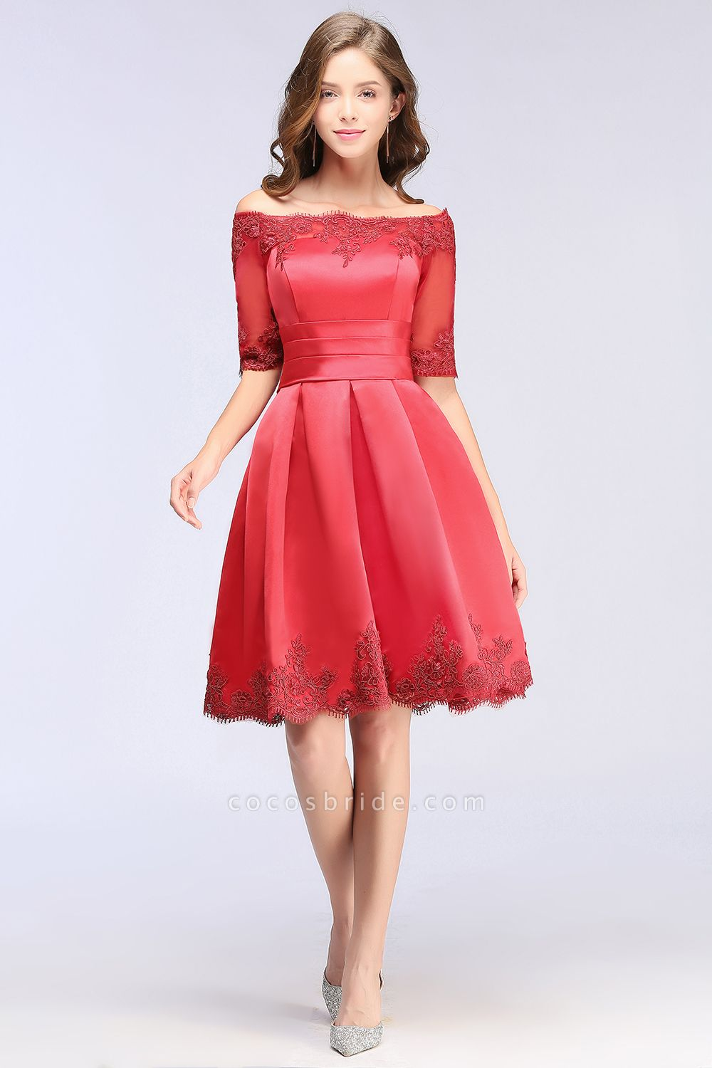 Chic Off-the-shoulder A-line Homecoming Dress