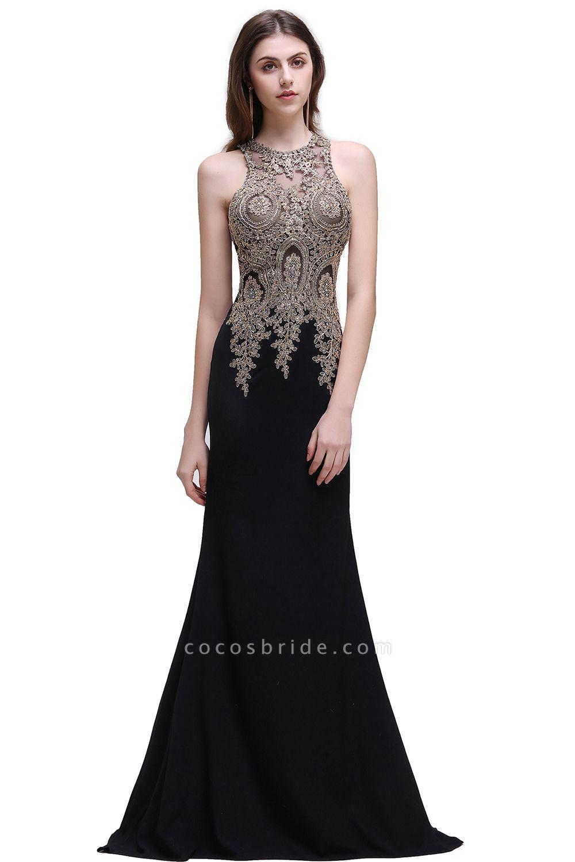 Modest Jewel Chiffon Mermaid Prom Dress