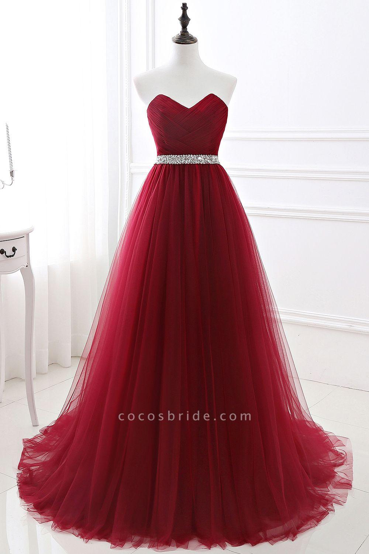 Glorious Strapless Organza A-line Evening Dress