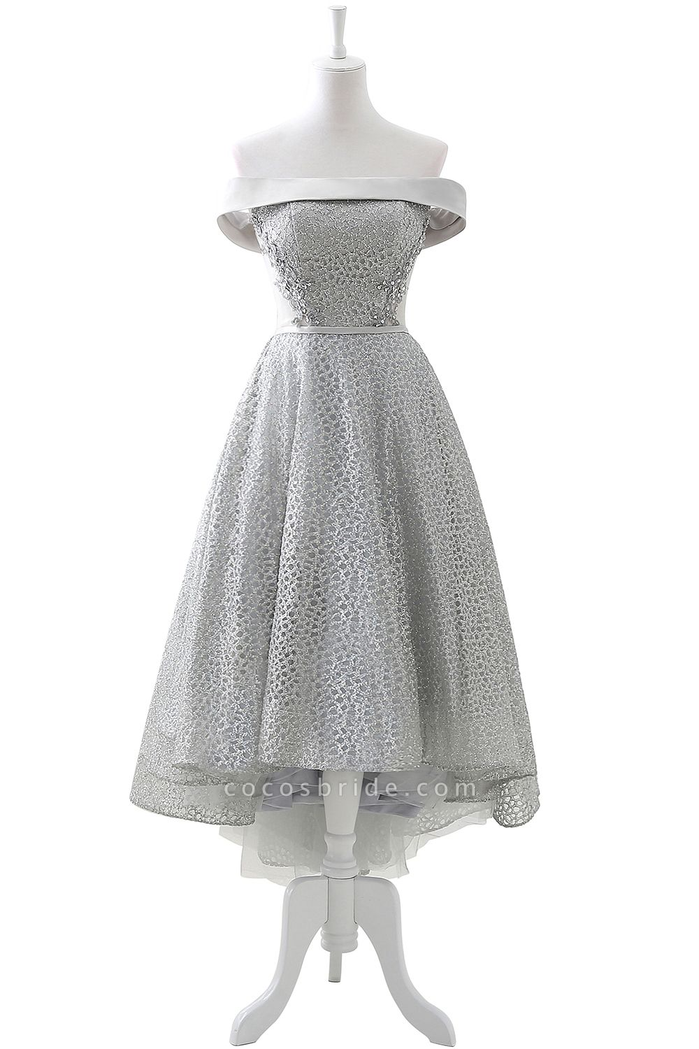 ANGELA   A-line Short Sequins Lace up Homecoming Dress With Beading