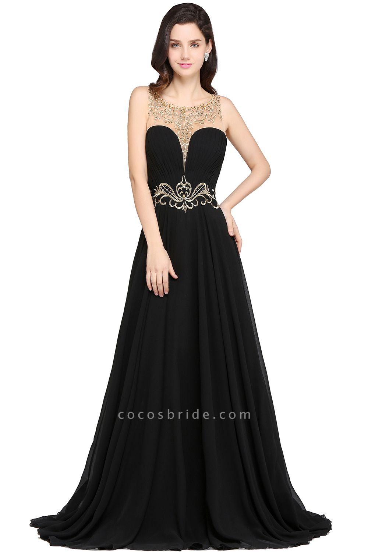 Awesome Jewel Chiffon A-line Evening Dress