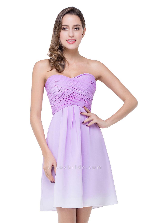 Glorious Strapless Chiffon A-line Bridesmaid Dress