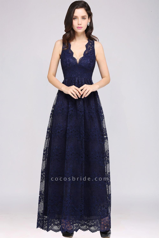 Amazing V-neck Lace Column Bridesmaid Dress