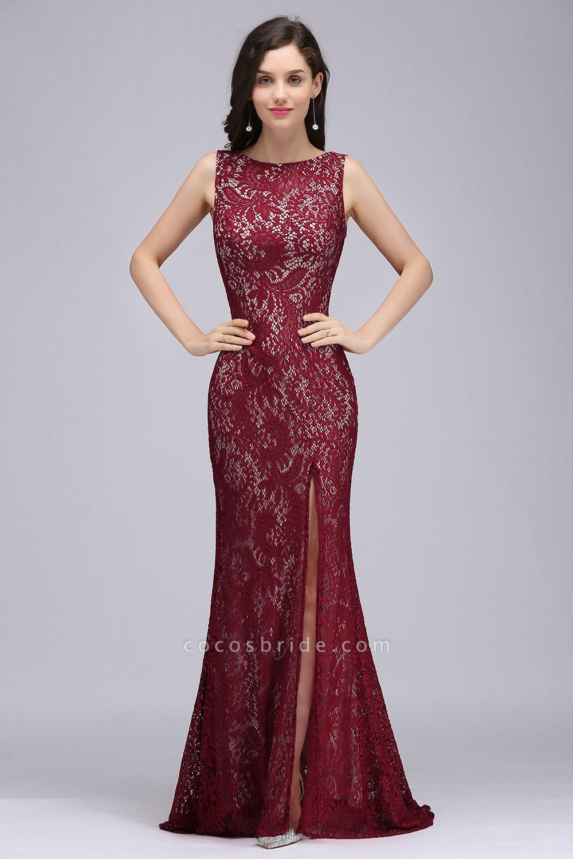 Modest Jewel Lace Mermaid Evening Dress