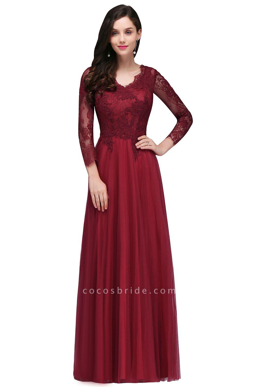 Marvelous V-neck Tulle A-line Prom Dress