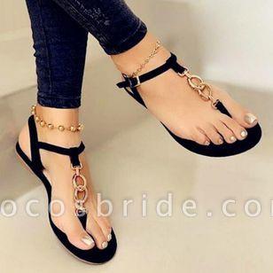 Women's Buckle Flats Flat Heel Sandals