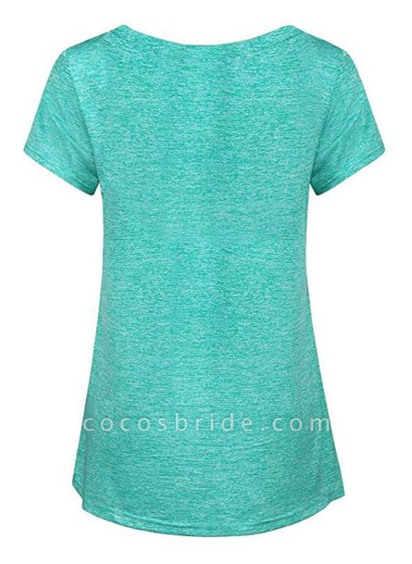 Women's Athletic Casual Sporty Polyester Yoga T-shirt Fitness & Yoga