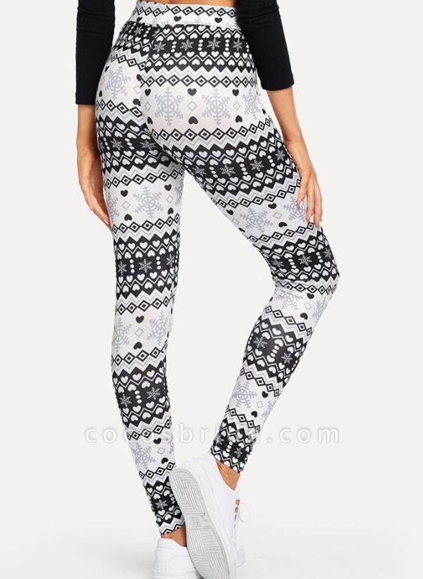 Women's Athletic Casual Polyester Yoga Leggings Fitness & Yoga