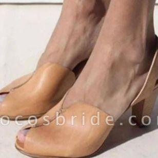 Women's Peep Toe Slingbacks Cone Heel Sandals